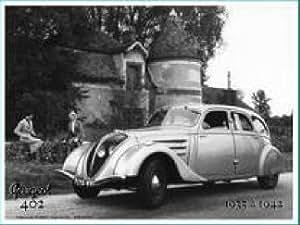 PLAQUE METAL 20X15cm PUB PEUGEOT 402 GRISE DE 1935 A 1942