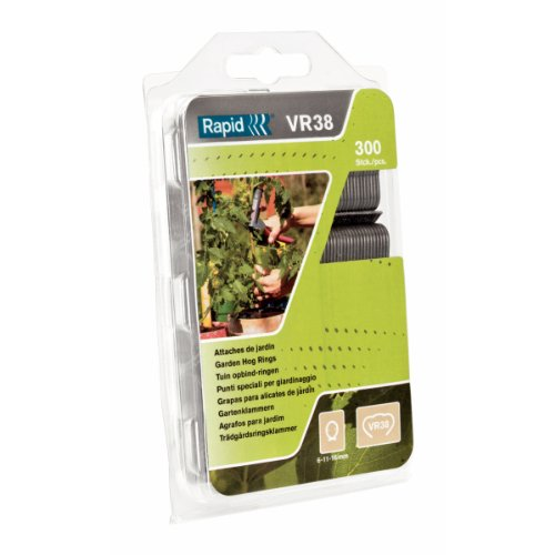 Rapid, 40109236, Agrafes de jardin en fil clair, VR38, 6-11 ou 16 mm, 300 pièces, Haute qualité