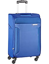 American Tourister Troy Polyester 79 cms Royal Blue Softsided Suitcase (AMT TROY SP79 ROYAL BLUE)