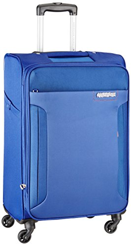 American Tourister Troy Polyester 79 cms Royal Blue Soft Sided Suitcase (AMT TROY SP79 ROYAL BLUE)