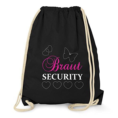 TEXLAB - Braut Security - Turnbeutel, schwarz