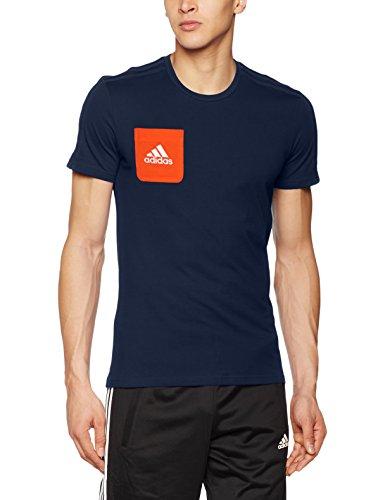 adidas Herren Tiro 17 T-Shirt, Collegiate Navy/Energy/White, XL Tiro Training