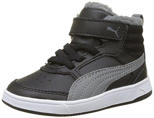 Puma Unisex-Kinder Rebound Street v2 fur V Inf Sneaker, Schwarz (Black-Smoked Pearl), 24 EU (Kinder Die Schuhe Jungen Großen Puma)