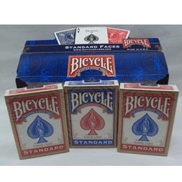 Bicycle Poker Size Standard Index Playing Cards-Red Deck!
