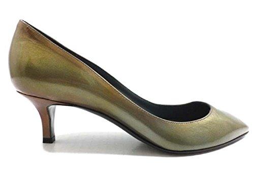 chaussures-femme-sergio-rossi-38-eu-escarpins-vert-marron-cuir-verni-ay601