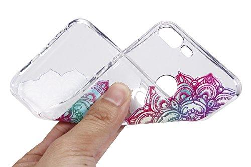 Coque Huawei Honor 9 Lite,Étui Huawei Honor 9 Lite,Surakey Huawei Honor 9 Lite Coque Transparente Silicone Gel TPU Souple Housse Etui de Protection Bumper avec Absorption de Choc et Anti-Scratch avec Dessin de Belle Fleur Papillon et Animaux Mignons Etui de Protection Cas en caoutchouc Premium Crystal Clear Flex Soft Touch Skin Ultra Mince Slim Téléphone Couverture TPU Case Coque Housse Étui pour Huawei Honor 9 Lite - Mandala