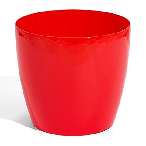 Rot Größe XL Coubi rund Kunststoff Übertopf Topf, 13Liter, 7Farben