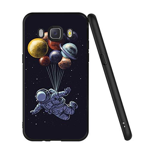 ZhuoFan Coque Samsung Galaxy J5 2016, Etui en Silicone Noir avec Motif 3D Fun Fantaisie Dessin Antichoc Souple TPU Housse de Protection Case Cover Bumper Coque pour Téléphone SamsungJ5, Espace 2