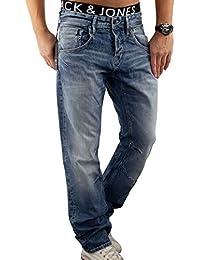 JACK & JONES Herren Jeans jjiBOXY Hose Loose Fit Relaxed Blue Denim