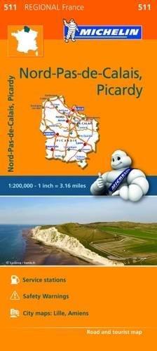 Nord-Pas-de-Calais, Picardy - Michelin Regional Map 511