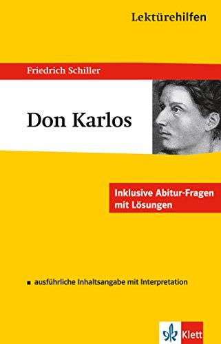 Klett Lektürehilfen Don Karlos: für Oberstufe und Abitur - Interpretationshilfe für die Schule