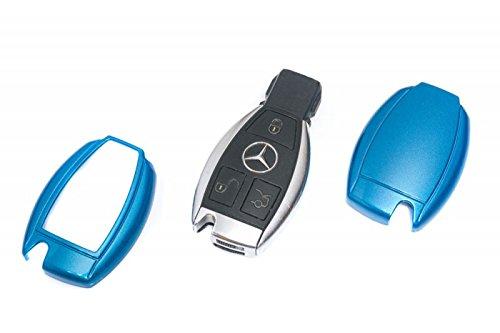 Mercedes-silikon-schlüssel-abdeckung (Key Cover Schlüssel Hülle Abdeckung Metallic Blau)