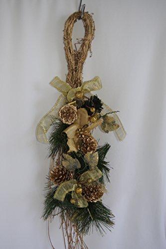 Porta corona Natale porta decorazione ghirlanda decorazione natalizia porta decorazione oro S534