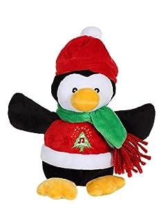 Gipsy 70609-Peluche De decoración De Navidad-Pingüino De Peluche, 16 Cm