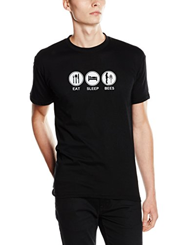 Shirtzshop T-shirt Eat Sleep - Essen Schlafen Imker, Schwarz, XXXL, ss-shop-top_eats-t-65 Preisvergleich