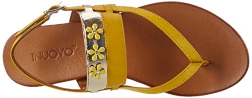 Inuovo - 7295, Infradito Donna Gelb (Yellow-Gold)