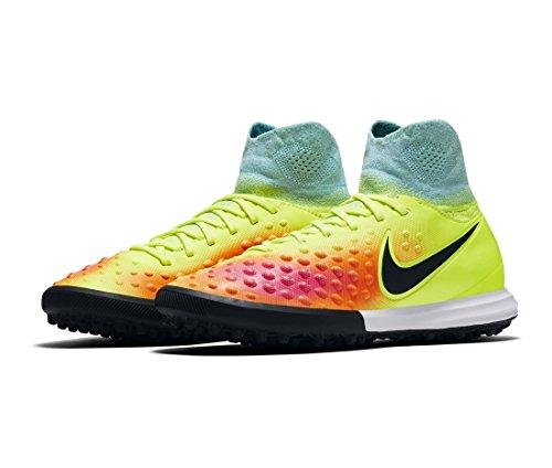 Nike Jr Magistax Proximo Ii Tf, Scarpe da Calcio Unisex – Adulto Amarillo (Volt / Black-Hyper Turq-Total Orange)