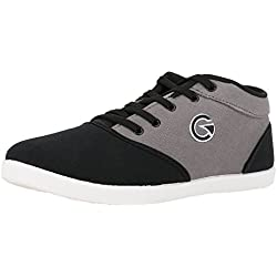 Globalite Men's Crux Black Grey Canvas Shoes-Uk 11