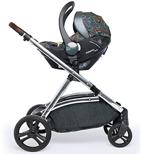 Cosatto Wow XL Tandem Pushchair in Nordik with Board car seat Bag & footmuff Cosatto INCLUDES: Chassis, Carrycot, Seat unit, Buggy board, Dock isize car seat, Change bag, Footmuff, 2 x Raincover, 2 x Toys and 10 year guarantee(UK and Ireland only) Comes as a single unit with carrycot, seat unit and adaptor kit. Suitable from birth up to 25kg Seat unit suitable from 6 months up to 25kg Carrycot suitable from birth to approx. 6 months Compatible with Dock i-Size car seat. (Car seat & adaptor both included) High position seat option bringing baby closer to you less reaching and stretching post pregnancy. From-birth carrycot with comfy mattress, carry handle and removable washable liner. 'In or out' facing pushchair seat lets them bond with you or enjoy the view. Deep comfy pushchair seat for a supportive snuggle. Seat structured and upholstered for ultra comfort. Chest pads and tummy pad. This is comfort. 5