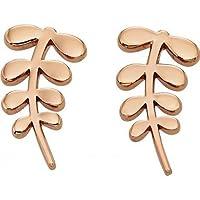 Orla Kiely Buddy Rose Gold Stem Stud Earrings