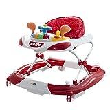 Girello a norma Walker Cars Rocker con dondolo e piatto giochi pratico e leggero colorato (rosso)