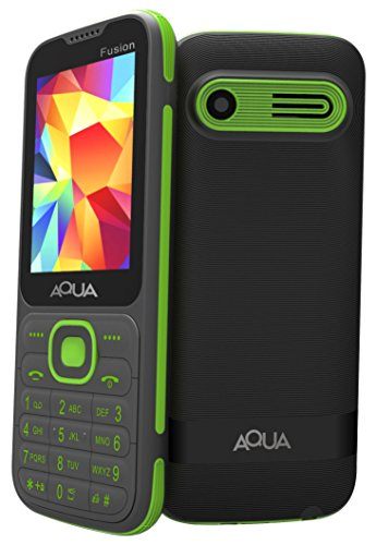 "Aqua Fusion - 2.4"" Dual Sim Basic Keypad Mobile Phone With Auto Call Recording Feature - Black"