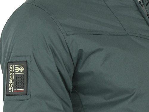 Manteau Veste pour homme style hachuré style nursers Playtex Bomber Harrington Varsity Vert - Beluga Olive