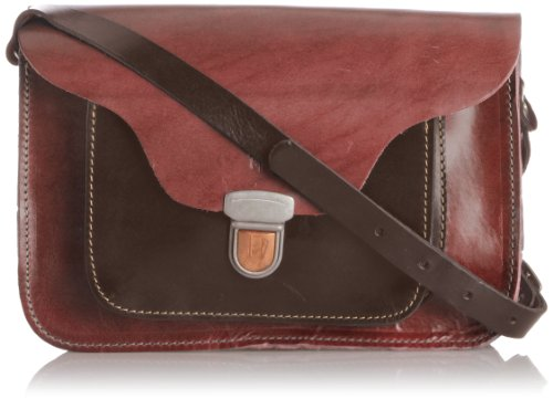 Sac Cartable Alba Fly London - Marron Dark Rouge - Rot (Red / Dk. Brown 002 002)
