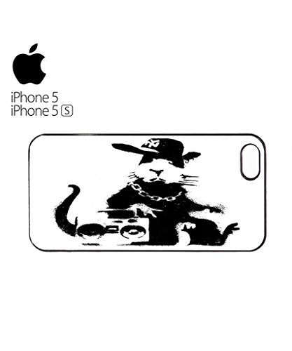 Banksy Geek Rat Gangster Ghetto Mobile Cell Phone Case Cover iPhone 5c Black Schwarz