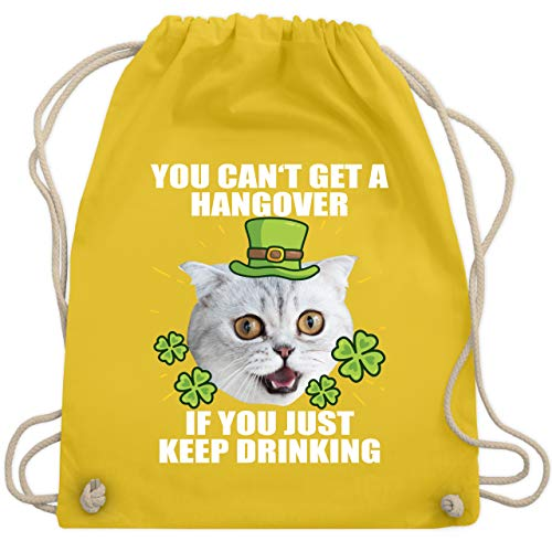 St. Patricks Day - You can't get a hangover if you just keep drinking - Unisize - Gelb - WM110 - Turnbeutel & Gym Bag