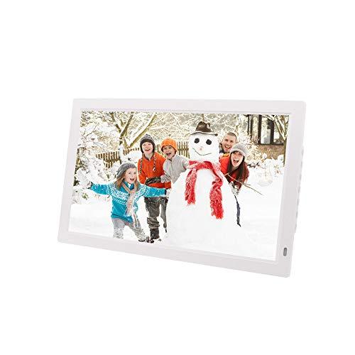 ZMH 21,5-Zoll-Digital-Foto-Frame, 1920 * 1080 HD MP3/MP4 Player mit HDMI, Multifunktionswerker Maschine Elektronische Bilderrahmen-TV-Display,White