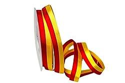 Christa-Bänder Uni Nationalband Spanien rot/gelb 15mm ohne Draht