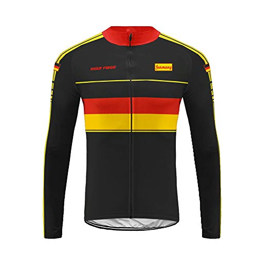 Uglyfrog Radfahren Jersey Deutschland Nationalflagge Designs Langarm Winter Warm with Thermische Fleece Bike Kleidung -
