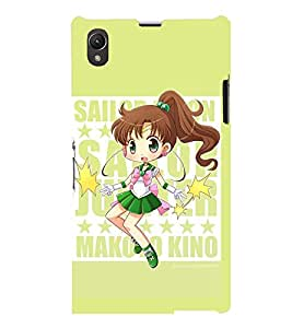 Printvisa Cute Girl Activity Pic Back Case Cover for Sony Xperia Z1::Sony Xperia Z1 L39h
