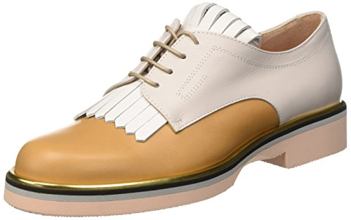 Pollini 865, Richelieu femme Multicolore (Hide Calf-White Calf-Iceberg Calf Platinum-Stone-Powder Sole)