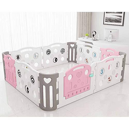 SPFOZ Leitplanke Zaun Kinder Spiele Indoor-Freizeitpark Baby Krabbeln Mat Baby Home Sicherheit Kleinkind Leitplanke Spielzeug Zaun (Color : Pink) - Sicherheits-leitplanke