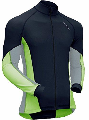 Esquí de Fondo de Esquiar para Hombre Transpirable Manga Larga Resistente al Viento. Negro/Verde Medium