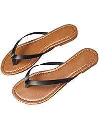 1c1d48647ea6 Outgobuy Damen Leder Thong Flache Ferse Sommer Sandalen Handarbeit in  Griechenland Luca Flip Flops