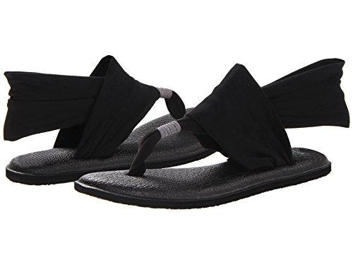Sanuk Women's Yoga Sling 2 Flip Flop (5 B(M) US / 36 EUR, Black)