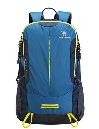 CAMEL CROWN Wanderrucksack Reiserucksack 30L Light Travel Rucksäcke Wasserdicht Rucksack mit Regenschutz für Männer Frauen Outdoor Walking (30 Pfund Reis)