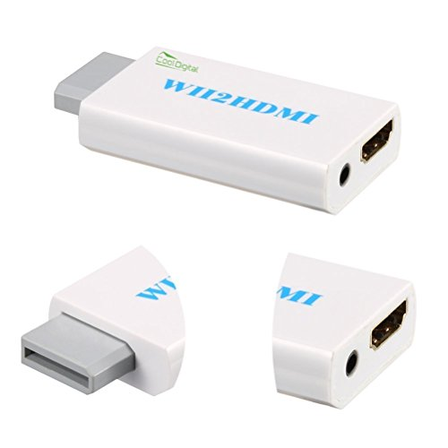 Price comparison product image CoolDigital Wii to HDMI Converter Output Video Audio Adapter Supports All Wii Display Modes to 720P / 1080P HDTV & Monitor [Nintendo Wii]¡­