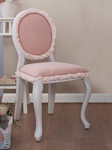 Cilek ROMANTIC Stuhl Kinderstuhl Schminkstuhl Weiß/Rosa