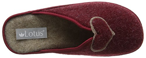 Lotus - Augusta, Pantofole Donna Purple (Burgundy)