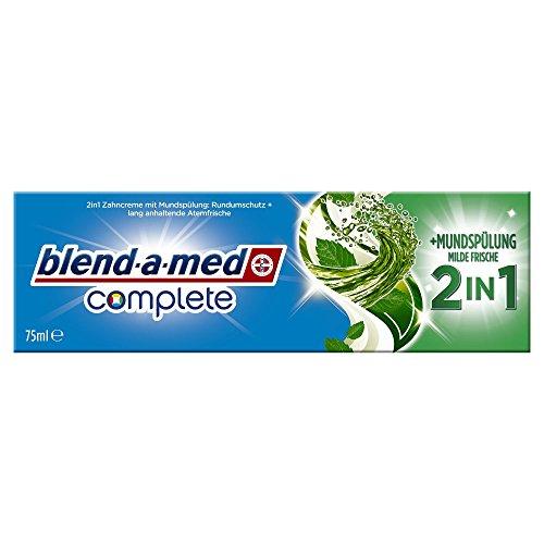 Blend-a-med Complete 2in1 plus Mundspülung Milde Frische Zahncreme, 75 ml