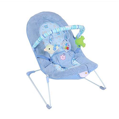 Cocoarm - Balancín para bebé con música y juguetes colgantes azul azul