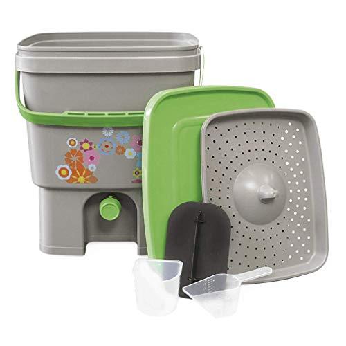 Organico Bokashi Kompost-Eimer für Küchenabfälle - Küchenkomposter für Effektive Mikroorganismen