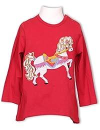 Pezzo Doro Mini M11034 Langarmshirt Tunika Shirt Karusell Pferd red