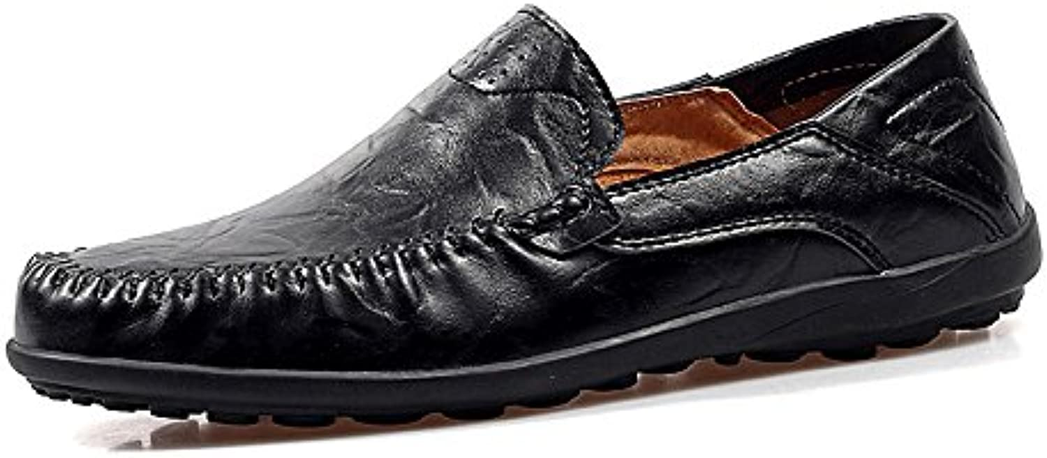 Ying xinguang Men's Flat Heel Fashion Loafer Slip Slip Slip On Slouch Vamp Business Casual Scarpe Casual   | In Linea Outlet Store  | Uomini/Donna Scarpa  3a6016