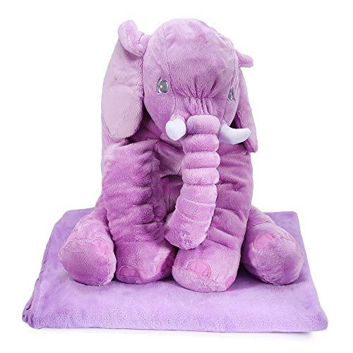 WTTHCC Elefante Almohada Edred n De Felpa Cavando Ropa De Cama Lindo Animal Almohada Edred n De Doble Uso Gran Art culo De Re