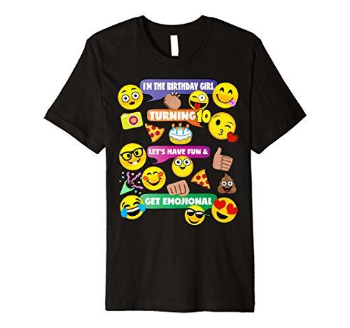 Mädchen Emoji-Geburtstag Shirt Alter 10Party Thema -